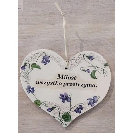 Serce małe - zawieszka